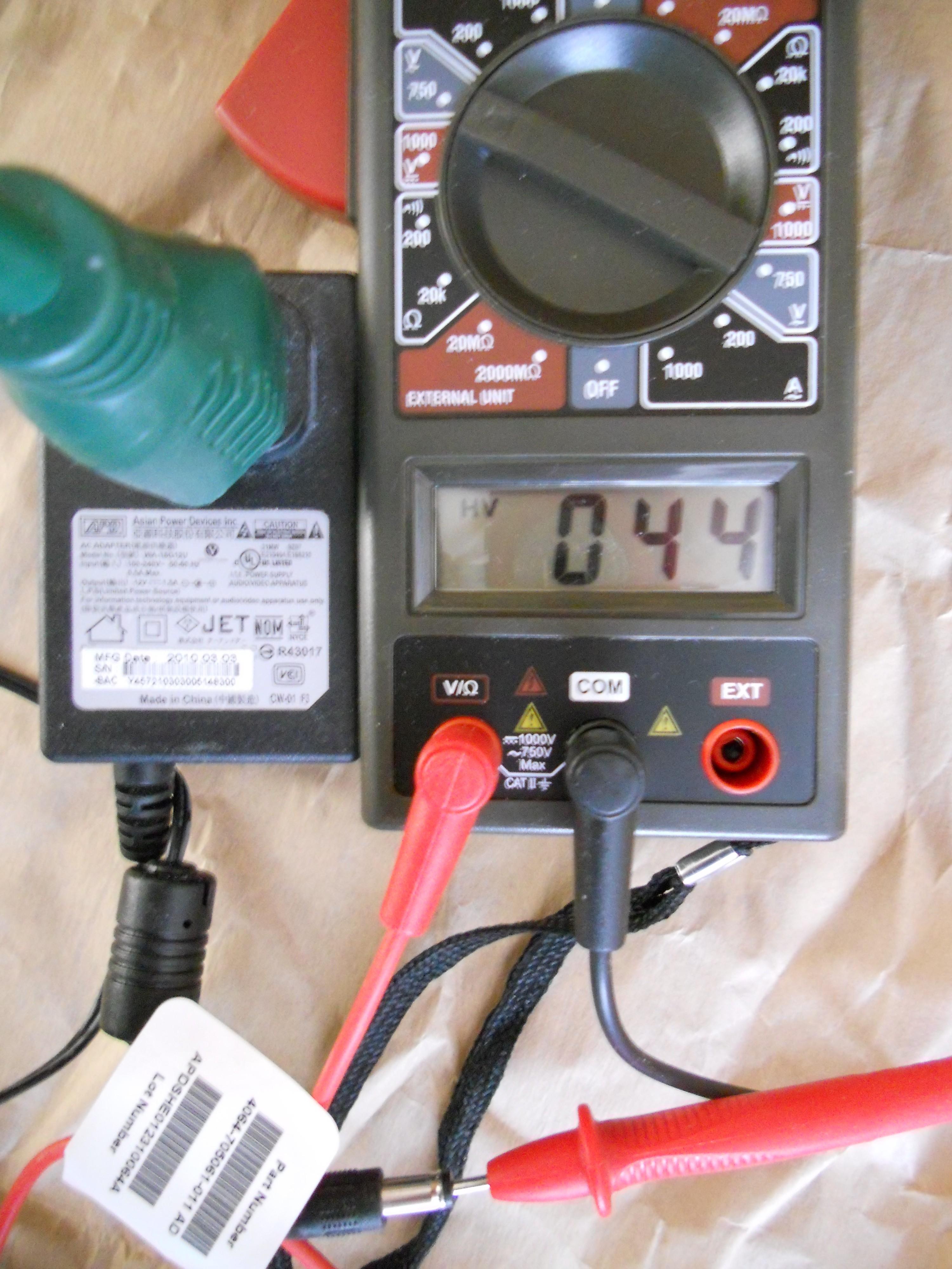 Western Digita Power Supply #3 - 44 volts leakage