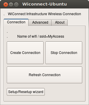 Wiconnect Connect Tab, updated with correct ssid name
