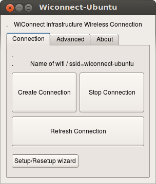 Wiconnect Connection tab