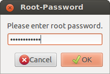 Wiconnect Root Password window